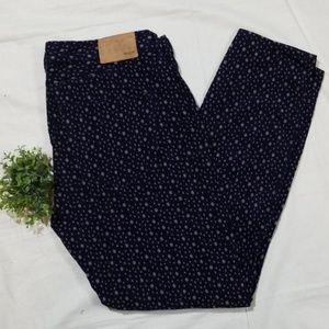 Madewell Polka Dot Skinny Corduroy Pants Size 29